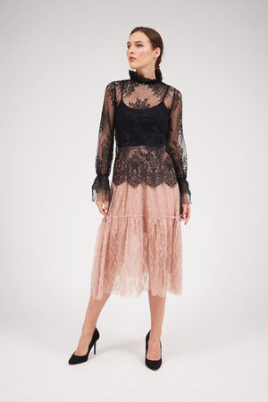 Mantra Pakistan CHANTILLY LACE SKIRT | BOTTOMS