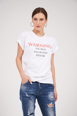 "Mantra Pakistan PRINTED ""FALL IN LOVE"" TEE 