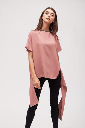 Mantra Pakistan MAUVE TOP WITH SACH TIE | TOPS