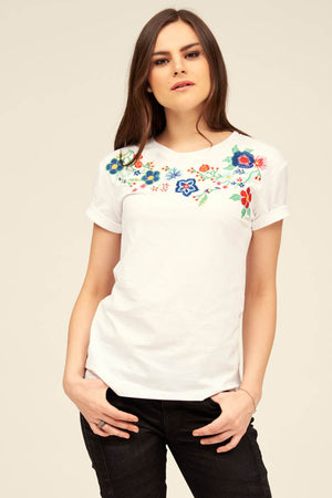 Mantra Pakistan BOHO EMBROIDERED TEE | TOPS