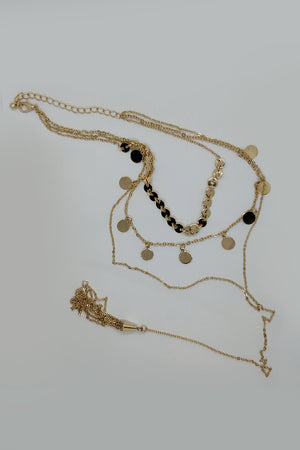 3 Tier Necklace With Hanging Pendent - Mantra Pakistan