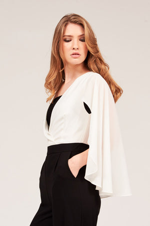 CHIFFON CAPE JUMPSUIT - Mantra Pakistan