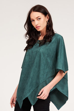 Mantra Pakistan SUEDE ASYMMETRICAL TOP | TOPS