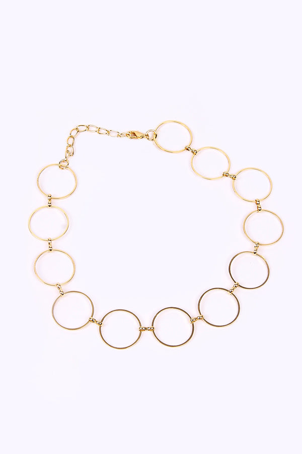 GOLDEN RINGS NECKLACE - Mantra Pakistan