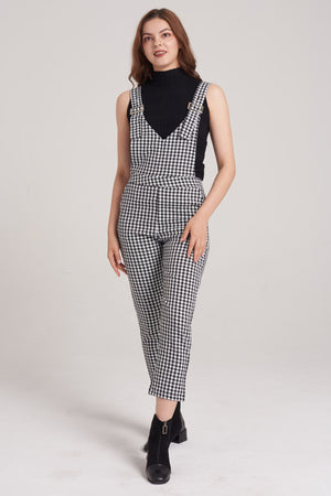 Mantra Pakistan Houndstooth pattern dungarees | DRESS