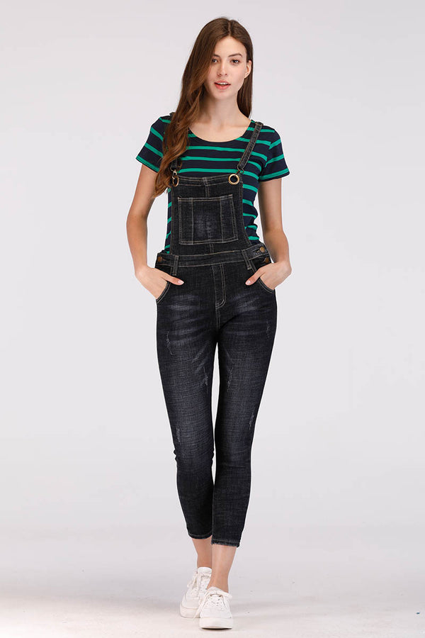 Mantra Pakistan CHARCOAL COLORED DENIM OVERALL / DUNGAREE | DRESS