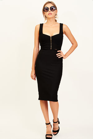 Mantra Pakistan COCKTAIL DRESS BLACK | DRESS