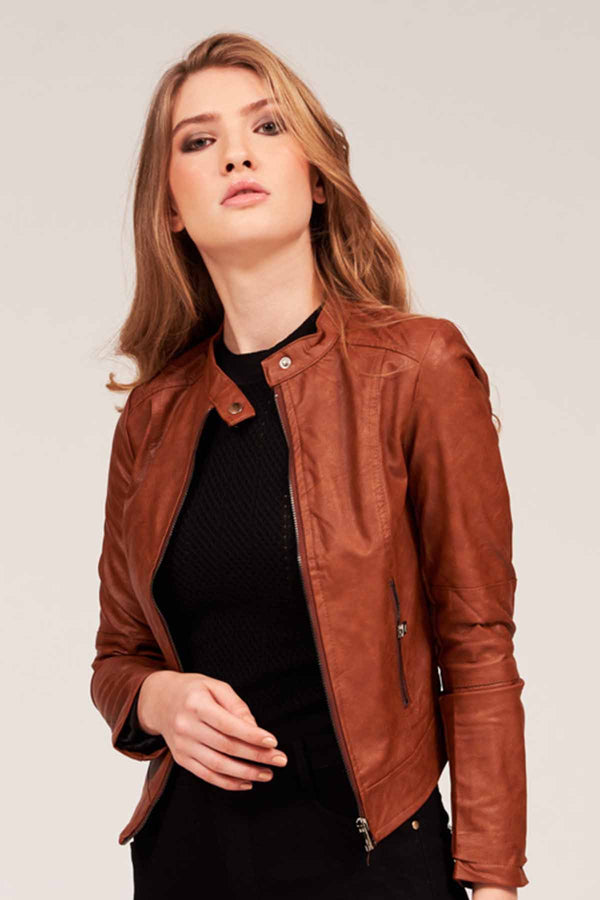 Mantra Pakistan FAUX LEATHER JACKET | OUTERWEAR