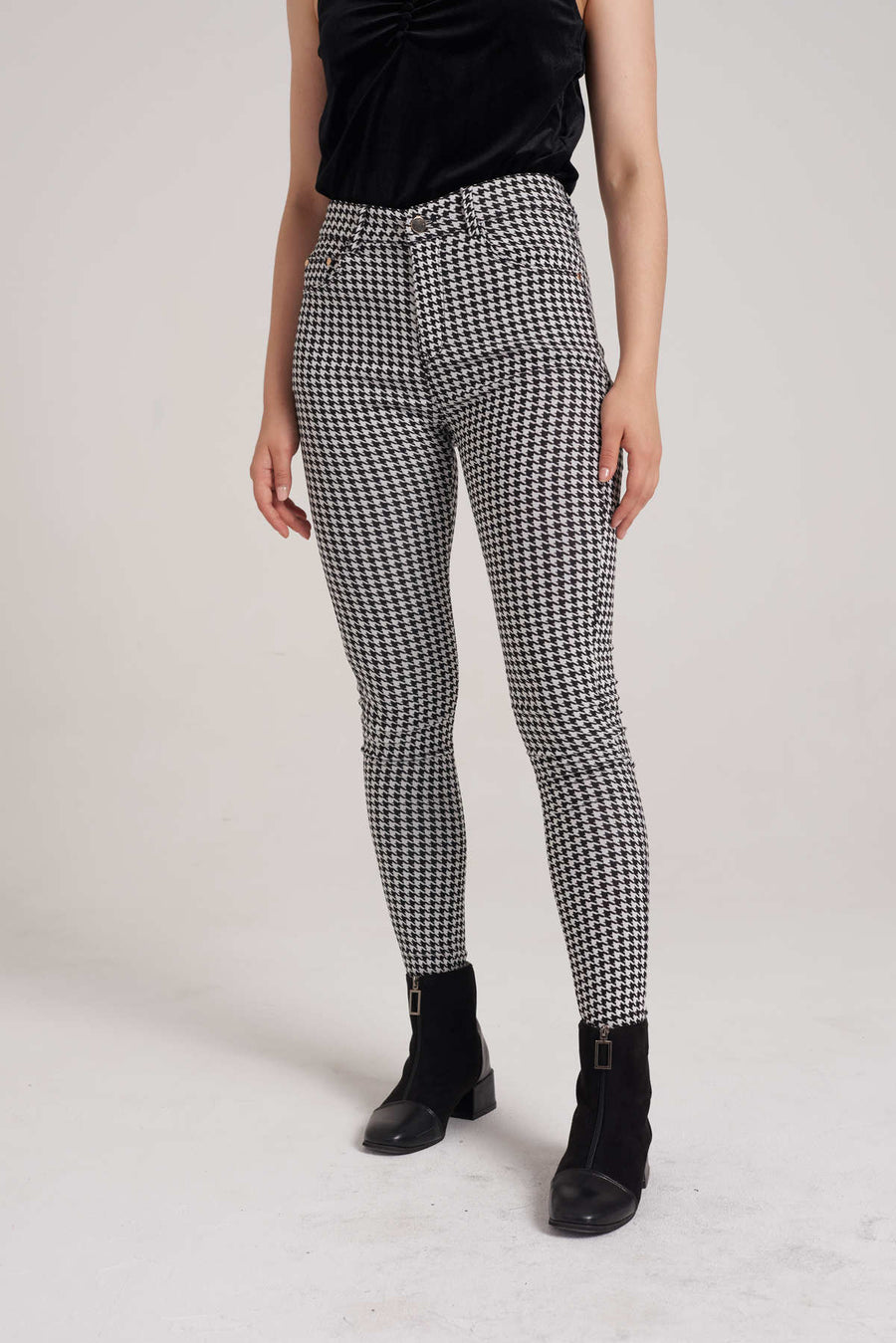 Mantra Pakistan Jeggings Mid houndstooth | BOTTOMS
