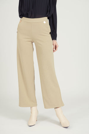 Mantra Pakistan Pant with 4 gold buttons | BOTTOMS