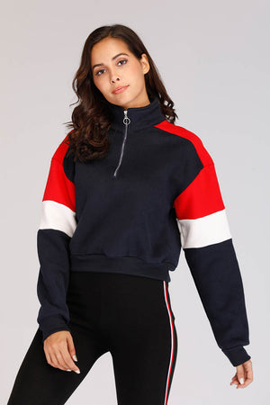 Mantra Pakistan COLOR BLOCK SWEATSHIRT | OUTERWEAR