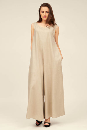 LINEN JUMPSUIT - Mantra Pakistan