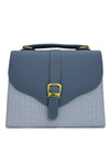 GOLD BUCKLED BLUE HANGBAG