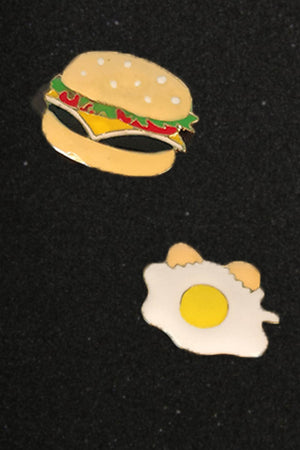 Mantra Pakistan FRIED EGG AND BURGER PINS | ACCESSORIES