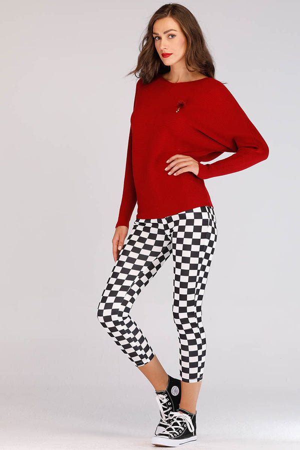 BLACK AND WHITE CHECKERED JEGGINGS - Mantra Pakistan