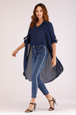 JEANS WITH SIDE STRIPES - Mantra Pakistan