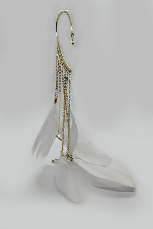 Earring Loop With Dangling Feathers - Mantra Pakistan
