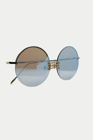 THIN METAL FRAME ROUND SUNGLASSES