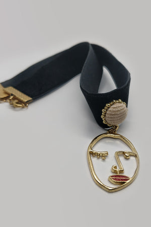 Choker with Face Pendant - Mantra Pakistan
