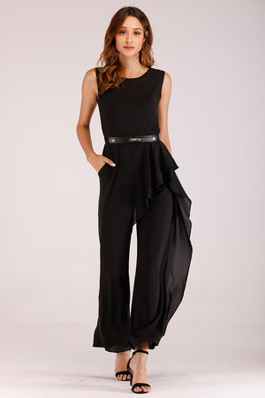 Mantra Pakistan SLEEVELESS JUMPSUIT WITH SIDE FLARES | DRESS