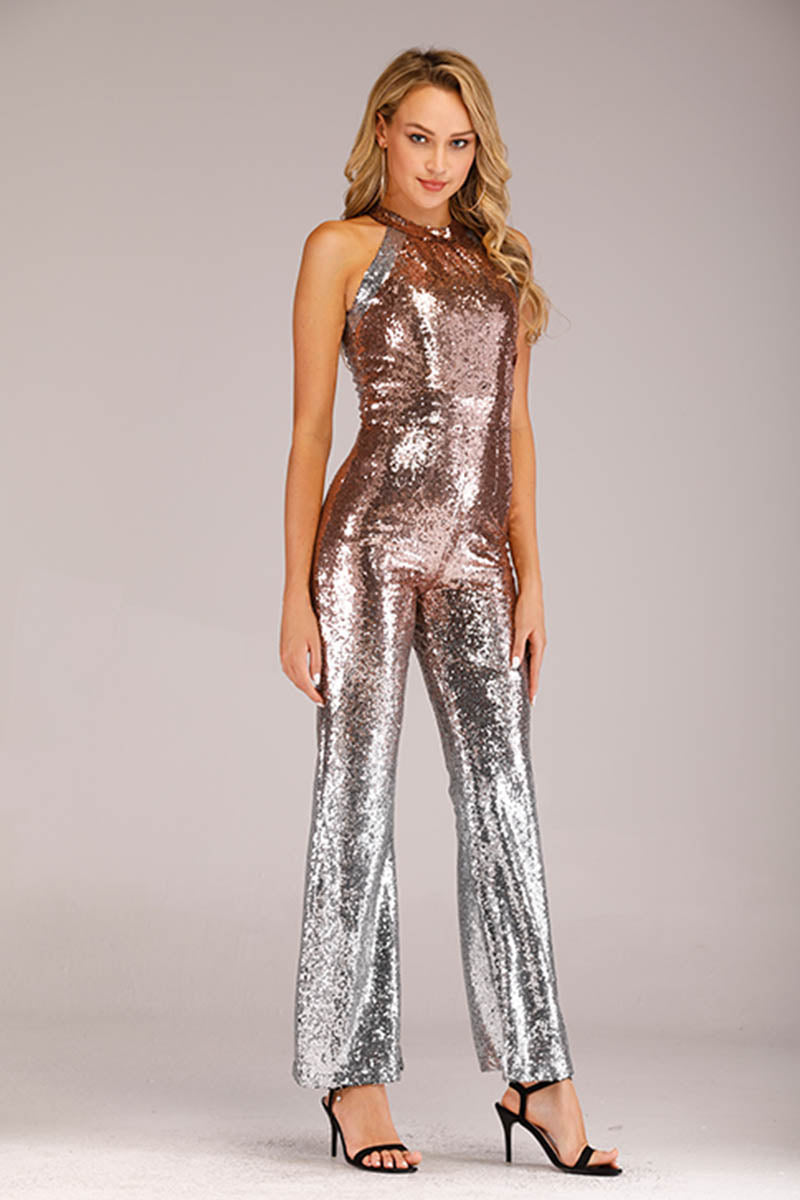 Mantra Pakistan SHINY TWO TONE SEQUINS JUMPSUIT | DRESS