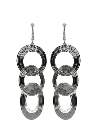 Mantra Pakistan METALLIC CIRCLES EARRINGS | ACCESSORIES