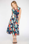 FLORAL PRINTED LONG SUMMER DRESS