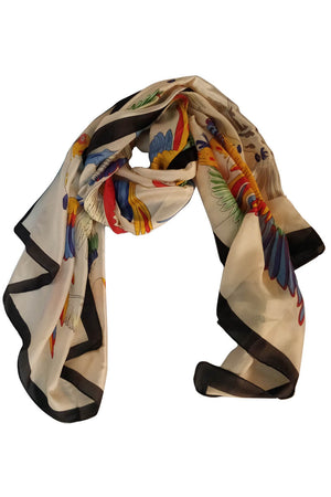 BIRDS PRINTED SCARF - Mantra Pakistan