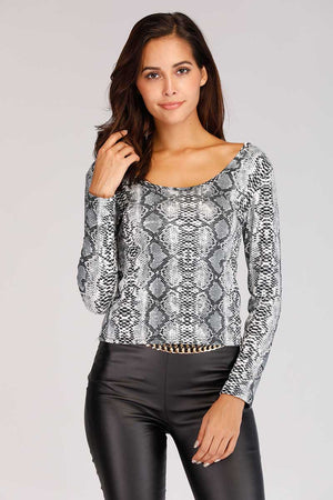 Mantra Pakistan SNAKE PRINTED TOP | TOPS