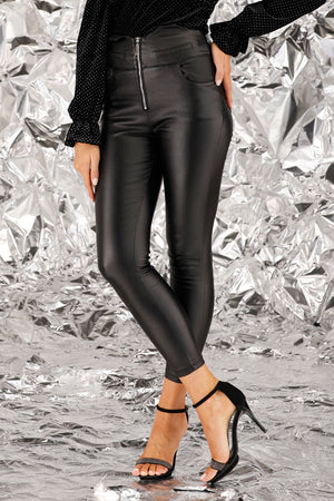 Mantra Pakistan Skinny Leather Pants | BOTTOMS