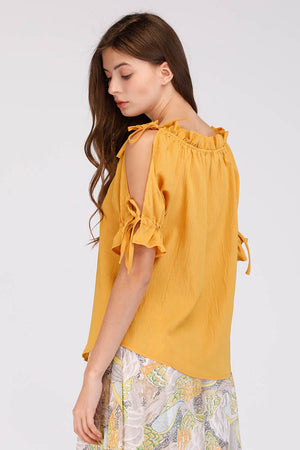 Mantra Pakistan SOLID COLORED CREPE TOP | TOPS