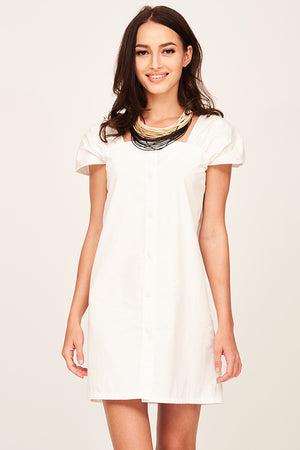 Mantra Pakistan WHITE MINI DRESS | DRESS