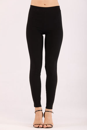 JEGGINGS WITH SHINY SIDE STRIP - Mantra Pakistan