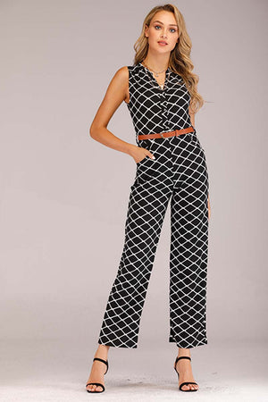 PRINTED BLACK JUMPSUIT