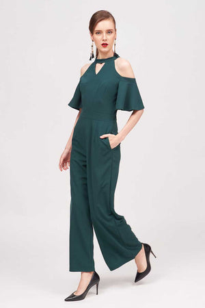 COLD SHOULDER JUMPSUIT - Mantra Pakistan