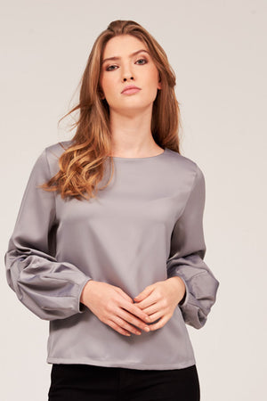 Mantra Pakistan SOLID TOP WITH PUFFED SLEEVES | TOPS