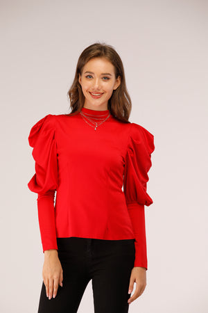 Mantra Pakistan Puffy Shoulder Top | Western Wear