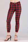 RED CHECKERED JEGGINGS