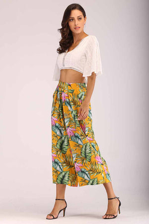 Mantra Pakistan TROPICAL PRINTED PALAZZO | BOTTOMS