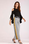 PLAID PANTS WITH SIDE SLITS