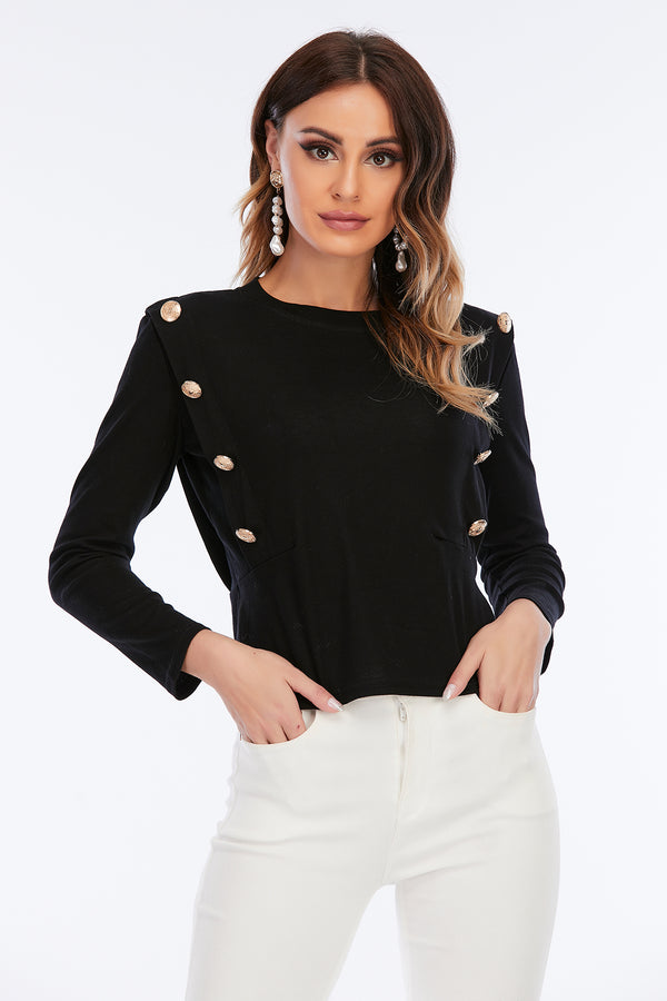 Mantra Pakistan TOP WITH GOLD BUTTONS | Western Wear