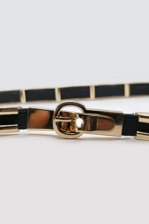 Golden Striped Belt