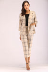 BEIGE PLAID SUIT