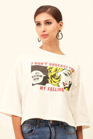 "Mantra Pakistan PRINTED ""MY FEELINGS"" TEE 