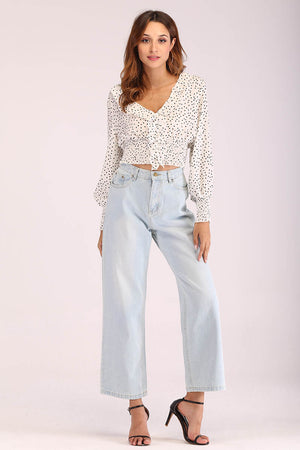 Mantra Pakistan BASIC DENIM MOM JEANS | BOTTOMS