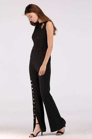 Mantra Pakistan SOLID COLORED JUMPSUIT WITH FRONT BUTTONS | DRESS