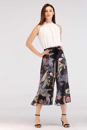 Mantra Pakistan BLACK PRINTED PANTS | BOTTOMS