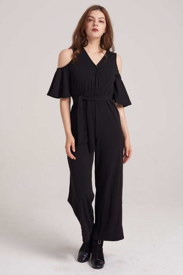 Mantra Pakistan Cold shoulder quarter Sleeve jumpsuit | DRESS