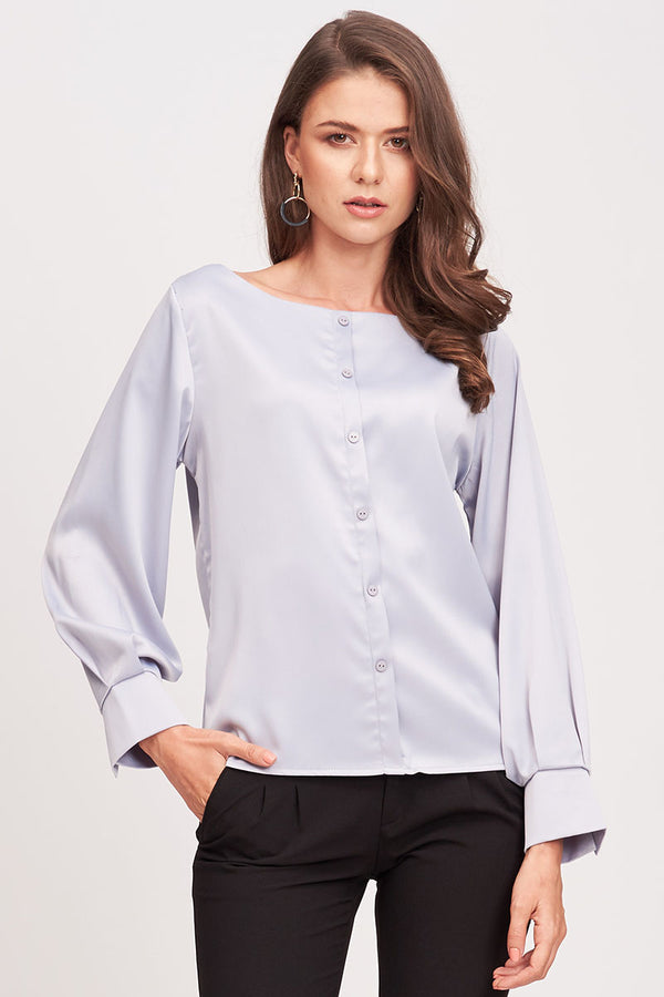 ROUND COLLARED BUTTON DOWN SHIRT