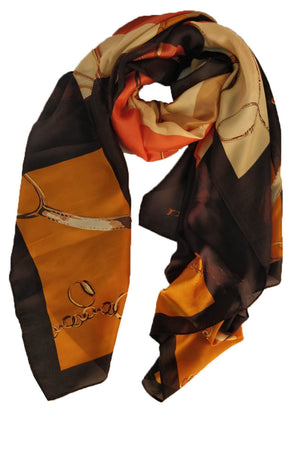Mantra Pakistan CHAIN PRINTED SCARF | ACCESSORIES